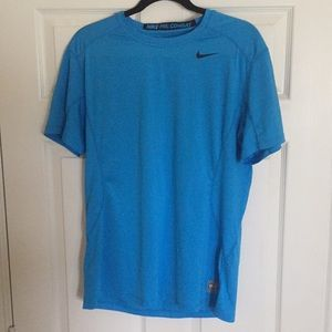 NIKE shirt pro combat dri-fit light blue L
